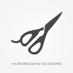 Silhouette icon hairdressing scissors