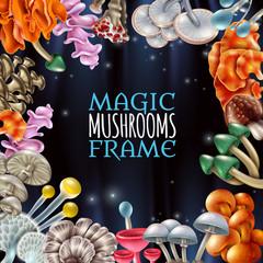 Magic Mushrooms Frame Background