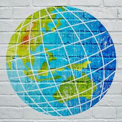 Street art. La terre