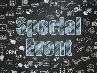 Business concept: Special Event on School board background