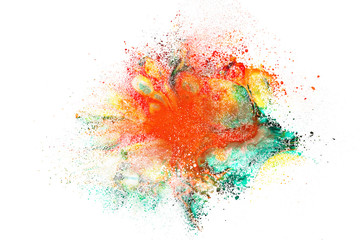 Abstract background of powder explosion