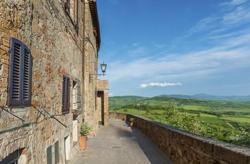 Fototapete - Idyllic Landscape of Pienza in Tuscany in Italy
