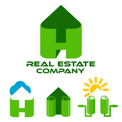 Real estate and letter H logo