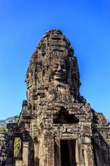 Ancient Bayon temple in Angkor Thom, Siem Reap, Cambodia