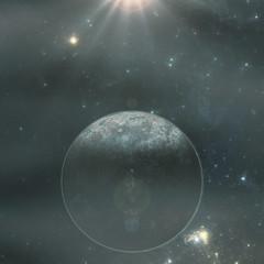 Alien exoplanet in deep space