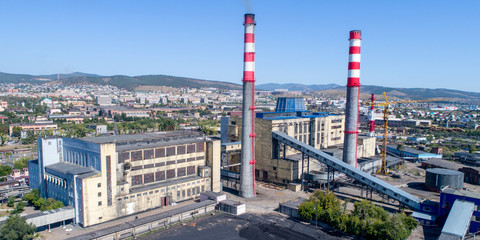 power station aerial view