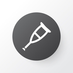 Crutch Icon Symbol. Premium Quality Isolated Spike Element In Trendy Style.