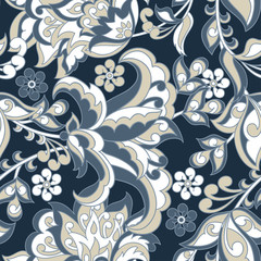 vintage floral seamless patte. seamless vector background