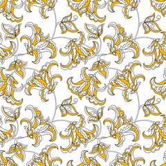 Ornate damask background. Vector vintage pattern