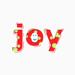 Colorful Words Joy