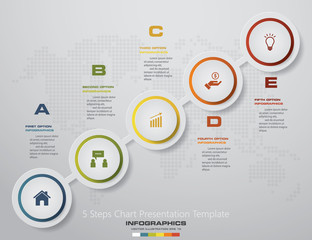 Vector infographics template business presentation. 5 options. EPS 10.