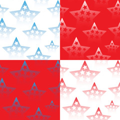 Set of seamless patterns with stars. Vector