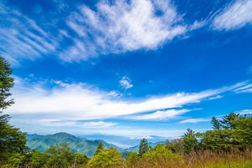 三つ峠から見る山並み山並