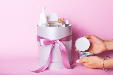 Gift box with cosmetics