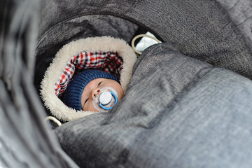 newborn in winter