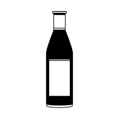 liquor bottle icon image vector illustration design  black and white