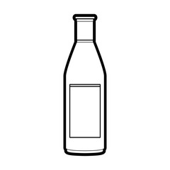 Alcohol bottle of drink beverage and restaurant theme Isolated design Vector illustration