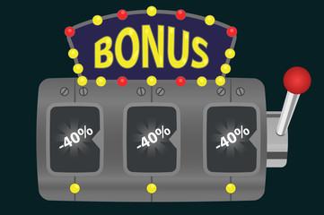 slot machine. discounts, bonuses.