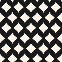 Art deco seamless pattern. Stylish geometric grid background with curved rhombuses