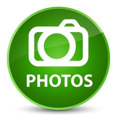 Photos (camera icon) elegant green round button