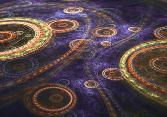 Circle fractal backround