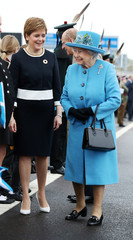 Britain's Queen Elizabeth, Scotland's First Minister Nicola Sturgeon and Prince Philip attend the ceremonial opening of the Queensferry Crossing, in Scotland