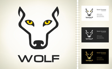 Wolf Head silhouette. Wolf logo vector.