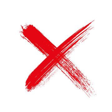 X.Grunge letter X cross sign - stock vector.