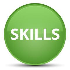 Skills special soft green round button