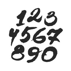 Hand Written Calligraphy Numbers
