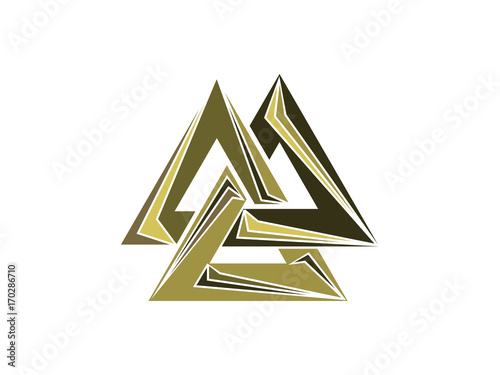 Valknut Is A Symbol Of The Worlds End Of The Tree Yggdrasil Sign
