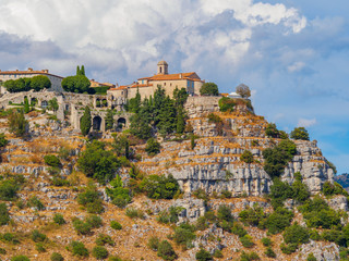 The fortified village of Gourdon situated high in the mountains is considered one of France's most beautiful villages.