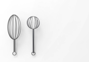 3d rendering. stainless kitchen stuff on white background