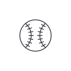 baseball ball thin line icon. Linear vector illustration. Pictogram isolated on white background