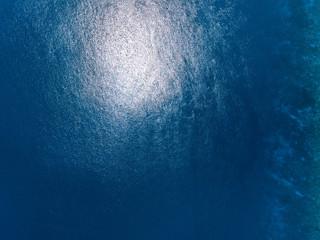 Wall Mural - Tropical blue sea aerial view