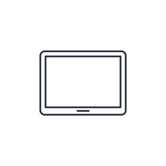 Tablet PC thin line icon. Linear vector illustration. Pictogram isolated on white background