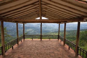 lookout platform in Barichara Colombia