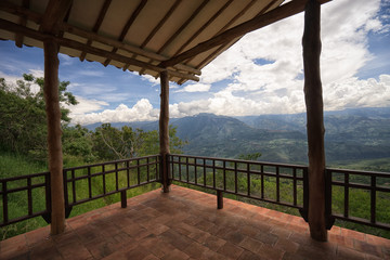 lookout platform in Barichara Colombia