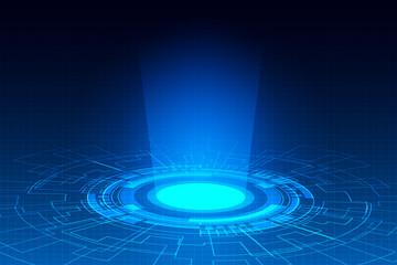 Hi-tech technology , Abstract blue digital background