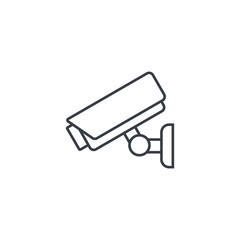 cctv, security digital camera, protection thin line icon. Linear vector illustration. Pictogram isolated on white background