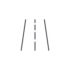 highway road, transport traffic thin line icon. Linear vector illustration. Pictogram isolated on white background