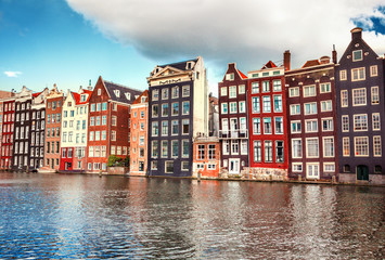 Photo sur Toile Amsterdam Houses in Amsterdam