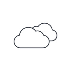 cloudy weather thin line icon. Linear vector illustration. Pictogram isolated on white background