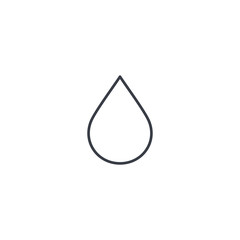 water drop thin line icon. Linear vector illustration. Pictogram isolated on white background