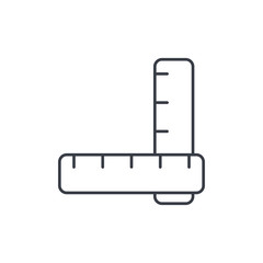 ruler thin line icon. Linear vector illustration. Pictogram isolated on white background