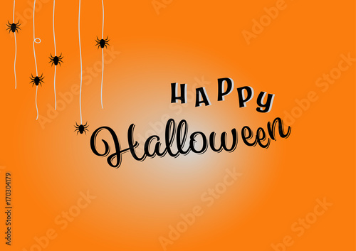 Happy halloween lettering greeting card and message design happy halloween lettering greeting card and message design background m4hsunfo