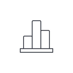 graph chart, statistic diagram thin line icon. Linear vector illustration. Pictogram isolated on white background