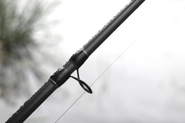 Carbon rod for feeder fishing close-up