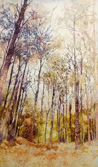 Thai dried forest ink oil closeup painting