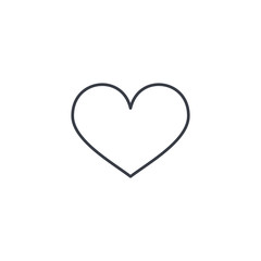 heart shape thin line icon. Linear vector illustration. Pictogram isolated on white background